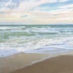 Urlaub am Meer - Wellen und Sandstrand an der deutschen Kste - Banner / Panoroma